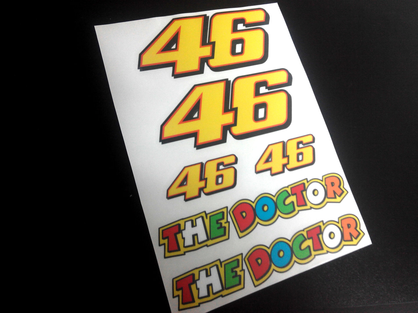 Stickers Kit Dorsal 46 Rossi Eco16 Stickers Aufkleber Decals The Doctor