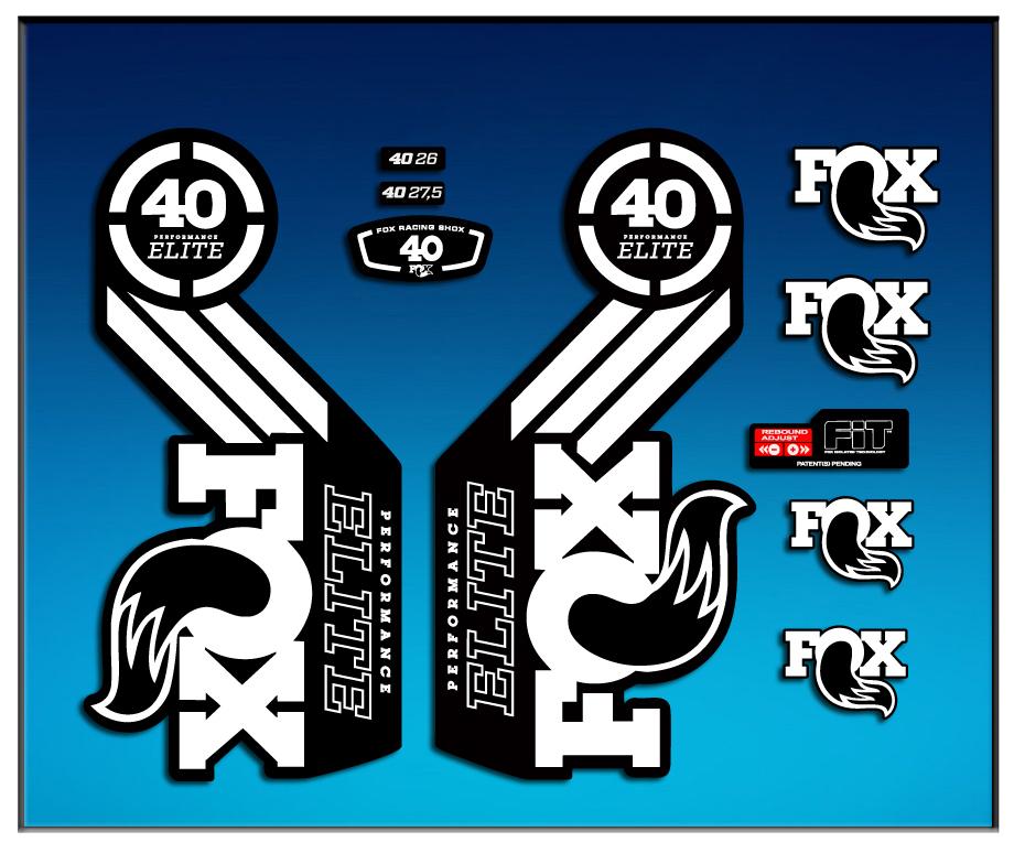 STICKER FORK FOX 40 ELITE SERIES AM68 AUFKLEBER DECALS AUTOCOLLANTS ADESIVI  FORCELA GABEL