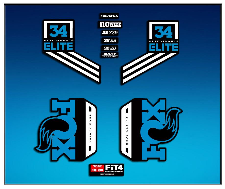 Stickers Fork Fox 34 Performance Elite 2017 Am79 Aufkleber