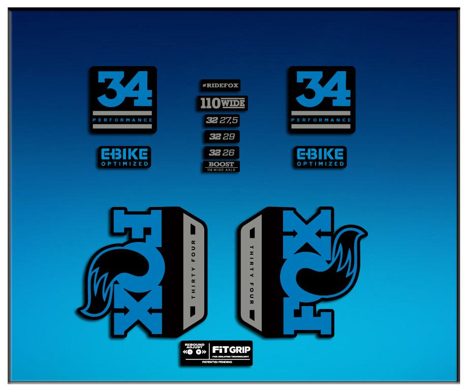 Stickers Fork Fox 34 Performance Elite 2017 Am81 Aufkleber