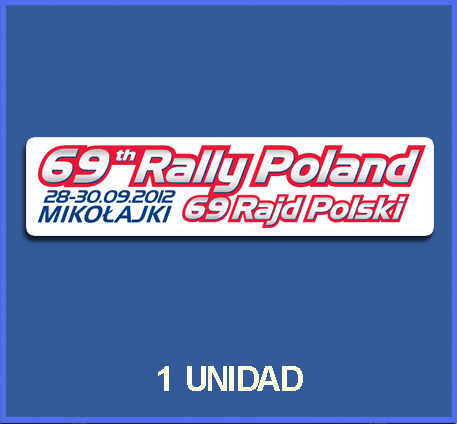 Pegatina 69 RALLY POLAND REF: DP416