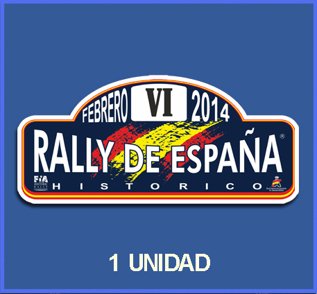 STICKER SPAIN HISTORIC RALLY OF 2014 REF: DP494