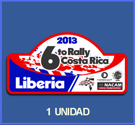 Pegatina RALLY DE COSTA RICA 2013 REF: DP556