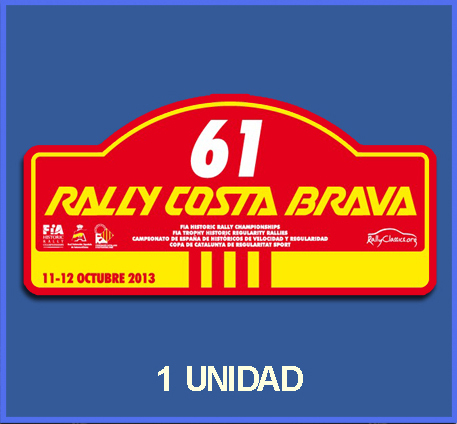Pegatina RALLY COSTA BRAVA 2013 REF: DP566