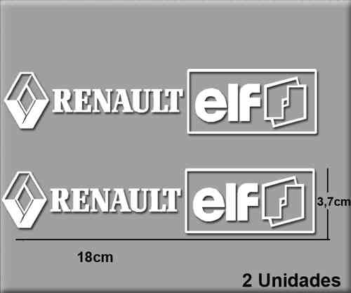 STICKERS RENAULT ELF REF: R202