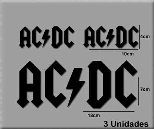 STICKERS AC DC MUSIC METAL REF: R134