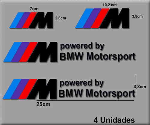 STICKERS BMW MOTORSPORT REF: R65