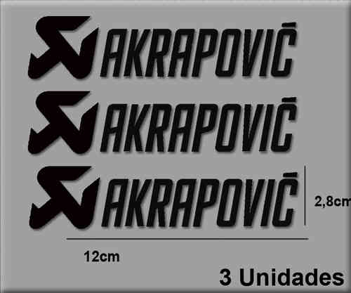 STICKERS AKRAPOVIC REF: R61