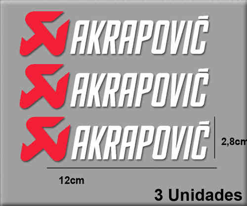 STICKERS AKRAPOVIC COLOR COMBINATION REF: R061