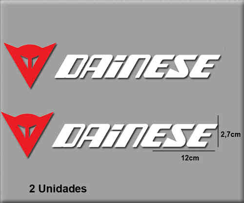STICKERS DAINESE RED WHITE REF: R92