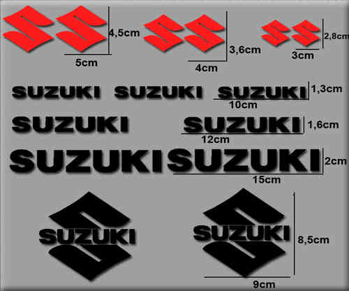 STICKERS SUZUKI COLOR COMBINATION REF: R0169