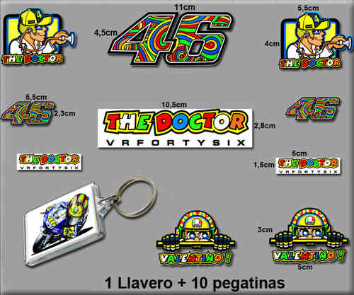 STICKERS ROSSI AND KEY CHAIN REF: RK002