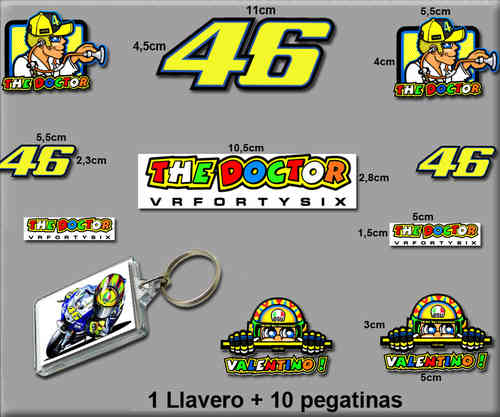 STICKERS ROSSI AND KEY CHAIN REF: RK003