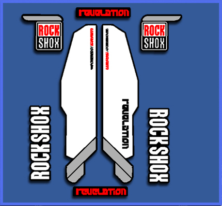 STICKERS ROCK SHOX REVELATION REF: DP1019