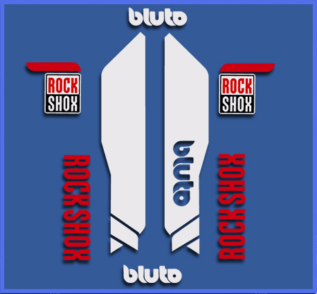 STICKERS ROCK SHOX BLUTO REF: DR1102