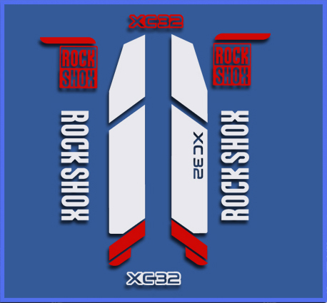 STICKERS ROCK SHOX XC32 REF: DR1108