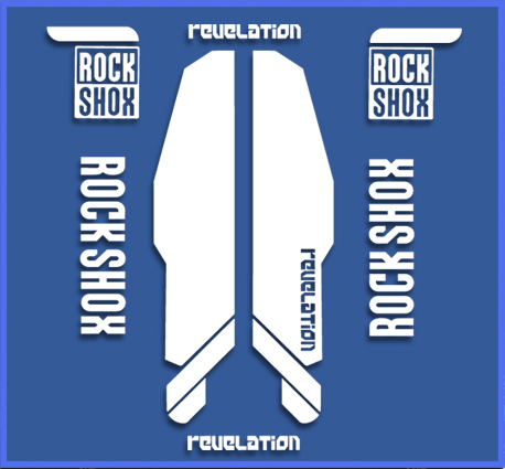 STICKERS FORK ROCK SHOX REBELATION  REF:DR1142