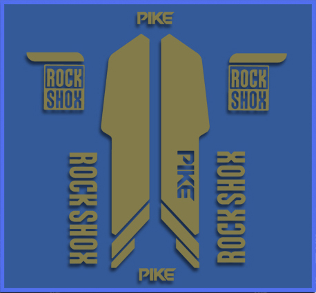 STICKERS FORK ROCK SHOX PIKE REF: DR1143