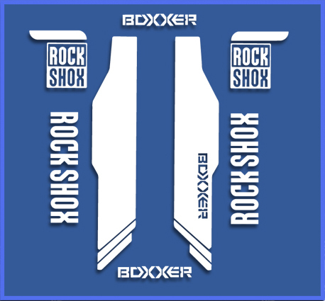 STICKERS FORK ROCK SHOX BOXXER BIKE REF: DR1144