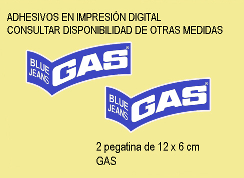 STICKERS GAS BLUE JEANS REF: FD129