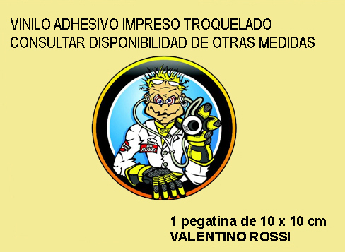 Pegatina THE DOCTOR ROSSI ROUND REF: FD331