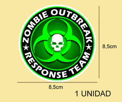 Pegatina ZOMBIE OUTBREAK REF: PD202