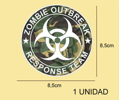 Pegatina ZOMBIE OUTBREAK REF: PD205