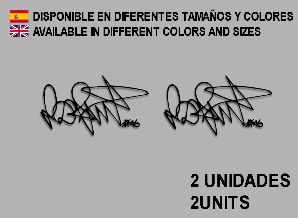 ECOSHIRT ARTICULOS Y VINILOS PERSONALIZADOS PEGATINAS Stickers Moto Firma Signature Rossi F105 AUFKLEBER Decals Autocollants ADESIVI