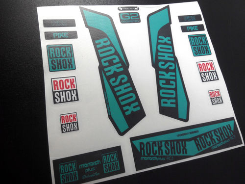 STICKERS ROCK SHOX PIKE MONARCH RC3 2016 ECO06 AUFKLEBER ADESIVI BIK