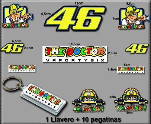 Stickers And Key Ring 46 Valentino Rossi The Doctor Am10 D Modelo 5 Aufkleber Vinilos Adesivi