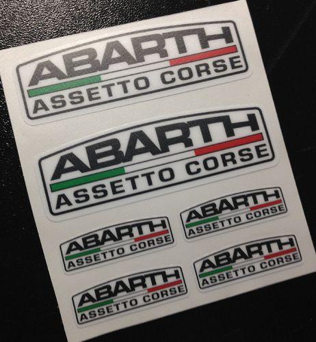 Stickers Abarth Asseto Corse Eco39 Fiat 500 Stickers Car Aufkleber Autocollants Adesivi