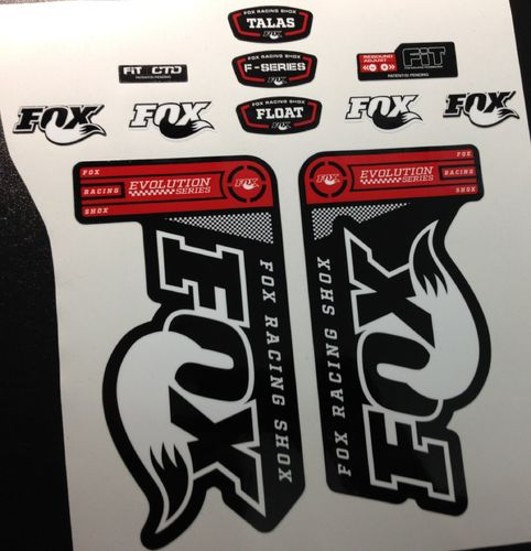PEGATINAS FOX EVOLUTION BLACK FORKS ECO48 FORK STICKERS AUFKLEBER ADESIVI BIKE