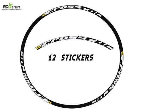 "DES AUTOCOLLANTS UN FEUILLARD MAVIC CROSSROC 29 ""AM22 ADESIVI DECAL AUFKLEBER MTB STICKERS BIKE."