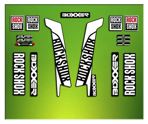 ROCK SHOX FORK stickers BOXXER 2016 ELX49 AUFKLEBER AUTOCOLLANT DECALS STICKERS BICYCLE CYCLE BIKE M