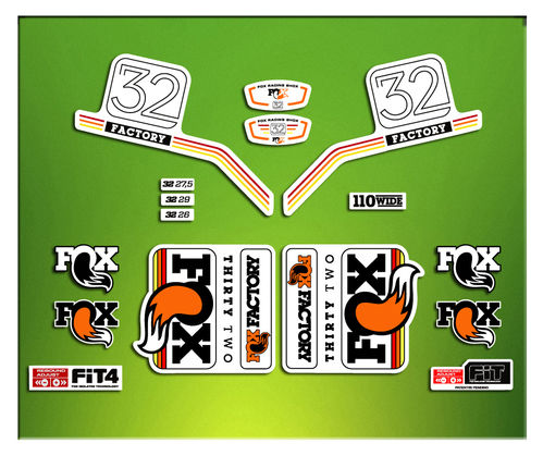 STICKERS FORK FACTORY FOX 32 2016 ELX08  AUFKLEBER AUTOCOLLANT ADESIVI BICICLETA CYCLE MTB BIKE
