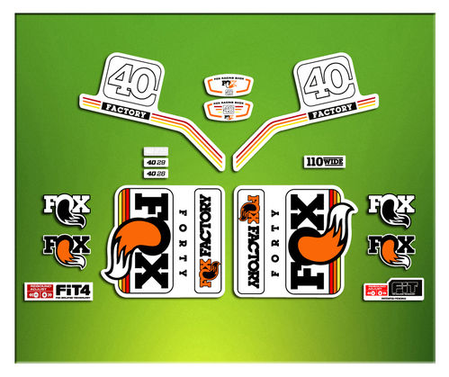 STICKERS FORK FACTORY  FACTORY FOX 40 2016 ELX11  AUTOCOLLANT ADESIVI BICICLETA CYCLE MTB BIKE