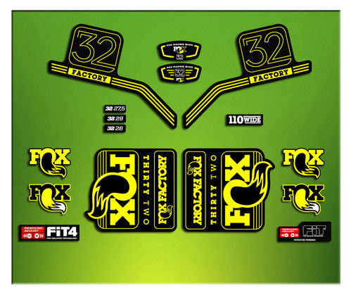 FORK FACTORY FOX 32 2016 ELX13 STICKERS AUFKLEBER AUTOCOLLANT ADESIVI BICICLETA CYCLE MTB BIKE