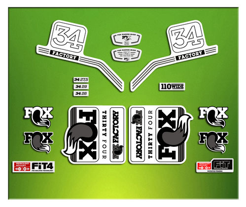 FORK FACTORY FOX 34 2016 ELX14 STICKERS AUFKLEBER AUTOCOLLANT ADESIVI BICICLETA CYCLE MTB BIKE