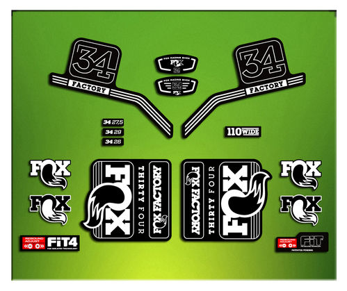 FORK FACTORY FOX 34 2016 ELX15 STICKERS AUFKLEBER AUTOCOLLANT ADESIVI BICICLETA CYCLE MTB BIKE