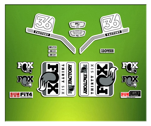 FORK FACTORY FOX 36 2016 ELX16 STICKERS AUFKLEBER AUTOCOLLANT ADESIVI BICICLETA CYCLE MTB BIKE