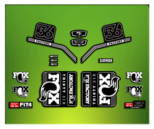 FORK FACTORY FOX 36 2016 ELX17 STICKERS AUFKLEBER AUTOCOLLANT ADESIVI BICICLETA CYCLE MTB BIKE