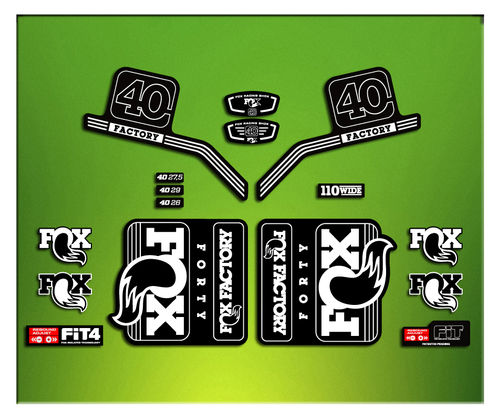 FORK FACTORY FOX 40 2016 ELX19 STICKERS AUFKLEBER AUTOCOLLANT ADESIVI BICICLETA CYCLE MTB BIKE