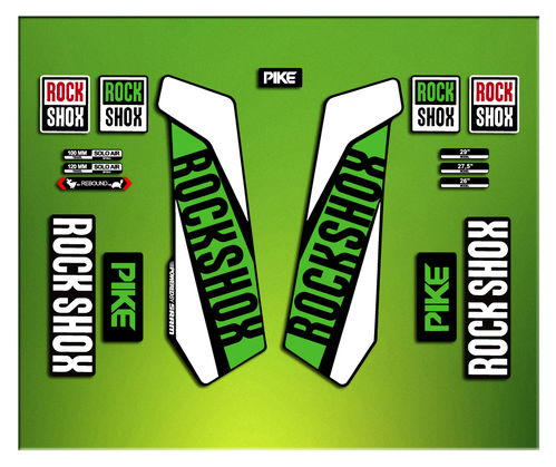 Adesivi Forcella Rock SHOX PIKE 2016 ELX26 STICKERS AUFKLEBER AUTOCOLLANT DECALS Bicicleta CYCLE