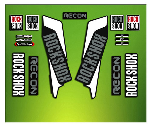 Adesivi Forcella Rock SHOX RECON 2016 ELX34 STICKERS AUFKLEBER AUTOCOLLANT DECALS Bicicleta CYCLE