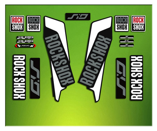 Adesivi Forcella Rock SHOX SID 2016 ELX37 STICKERS AUFKLEBER AUTOCOLLANT DECAL
