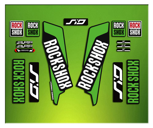 Pegatinas HORQUILLA ROCK SHOX SID 2016 ELX37 STICKERS AUFKLEBER AUTOCOLLANT DECALS BICICLETA CYCLE