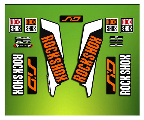 Adesivi Forcella Rock SHOX SID 2016 ELX38 STICKERS AUFKLEBER AUTOCOLLANT DECALS Bicicleta CYCLE