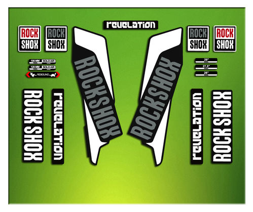Adesivi Forcella Rock SHOX REVELATION 2016 ELX41 STICKERS AUFKLEBER AUTOCOLLANT DECALS Bicicleta