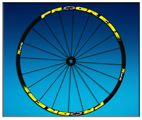 "DES AUTOCOLLANTS STICKERS UN FEUILLARD RIM PROGRESS XCD EVO 29 ""AM44 MTB DOWNHILL."