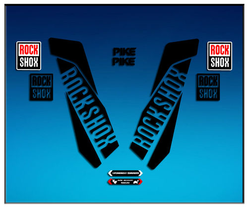 STICKER fork ROCK SHOX PIKE AM46 AUFKLEBER DECALS AUTOCOLLANTS ADESIVI FORCELA GABEL FOURCHE
